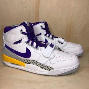 NEW Jordan Legacy 312 White Purple